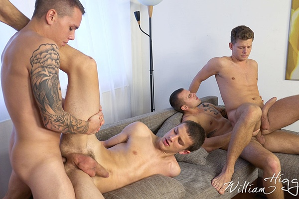 Marion Anel barebacks Rosta Benecky, Alex Stan and Roco Rita in Wank Party 2015 #08 Part 2 RAW at Williamhiggins