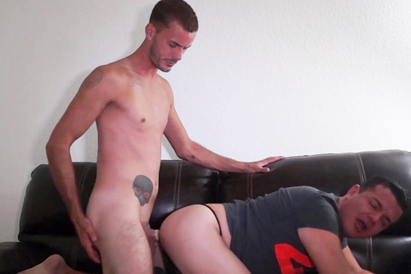 Masculine straight guy Jason fucks Victor before Jason gets jerked off in Getting Pounded by Sexy Married Jason Beefcakehunter