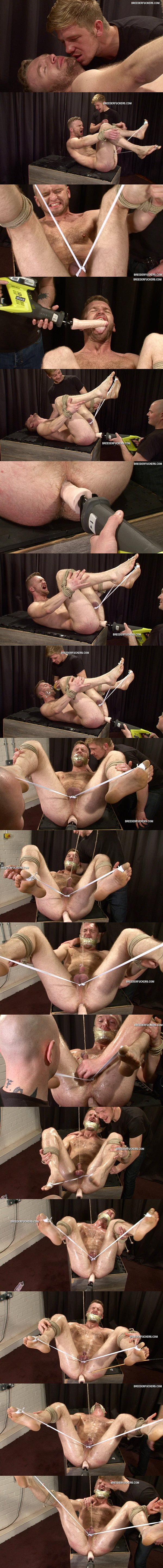 Masculine straight guy Yuris tormented and dildo-fucked by perverted masters Dave & Derek at Breederfuckers 02