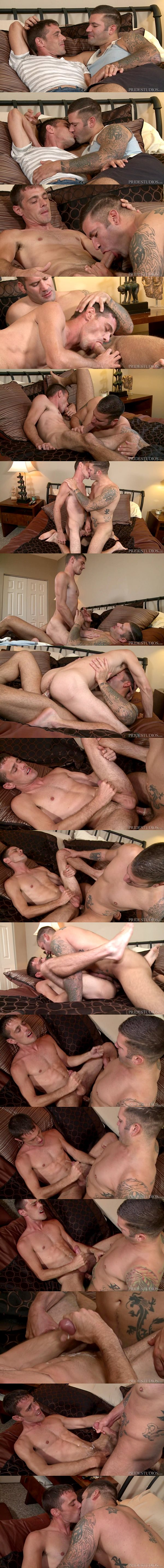 Caleb Troy pops Brett Bradley's tight virgin ass before he fucks the cum out of Brett at Extrabigdicks 02