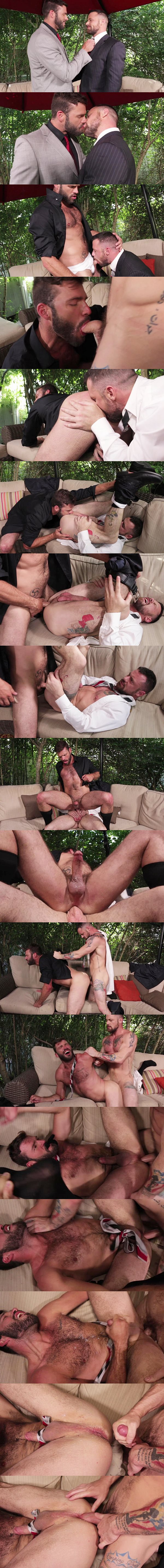 Xavier Jacobs and Sergeant Miles bareback flip-fuck until Sergeant breeds Xavier at Lucasentertainment 02