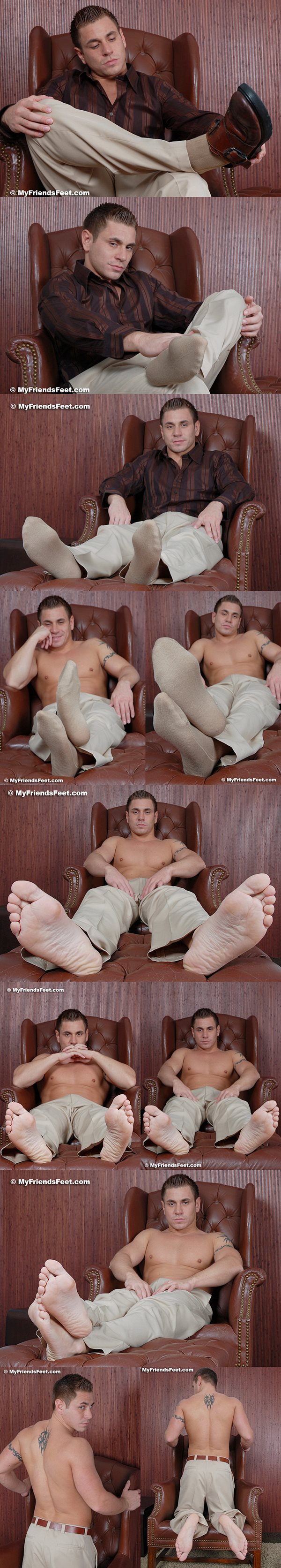 Dante (aka Dermott at Seancody) jacks off and shows his feet at Myfriendsfeet
