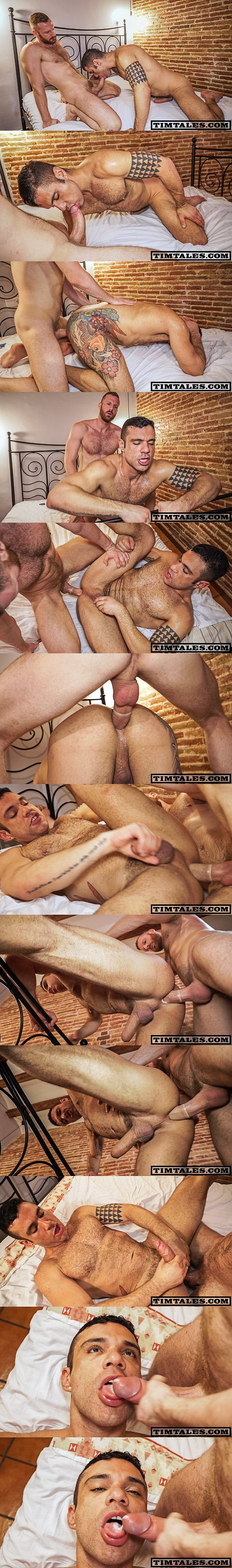 Horse hung Tim Kruger pounds sexy hairy hunk Letterio Amadeo's muscle butt at Timtales 02