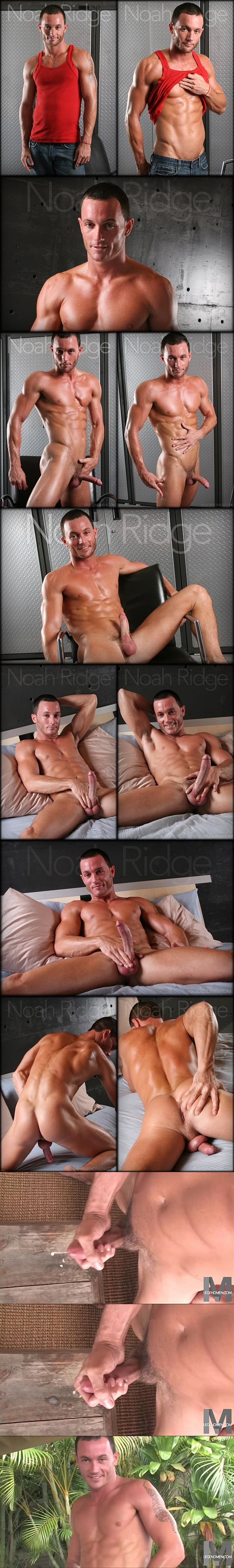 Cute lean fit jock Noah Ridge blows his hot cum at Legendmen
