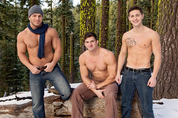 Brodie barebacks Lane and Joey before he creampies Joey in Winter Getaway Day 2 at Seancody