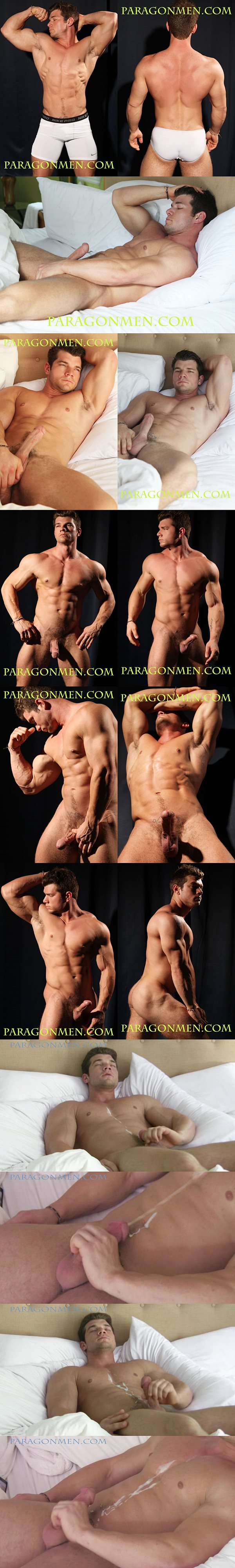 Hot ripped muscle jock Cash blows his big thick loads at Paragonmen