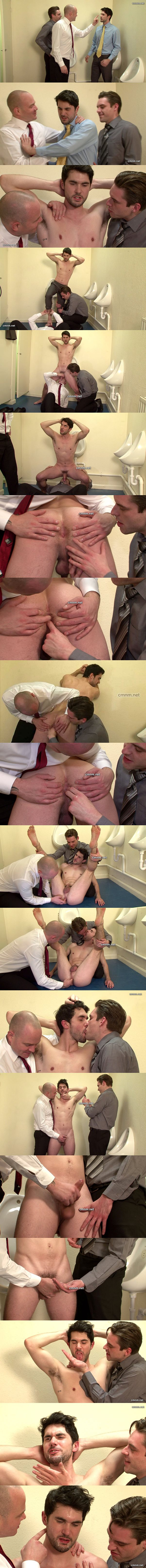 Handsome straight jock Julian gets his tight virgin ass fingered and jerked off by perverted Dave and Elliott at Cmnm 02
