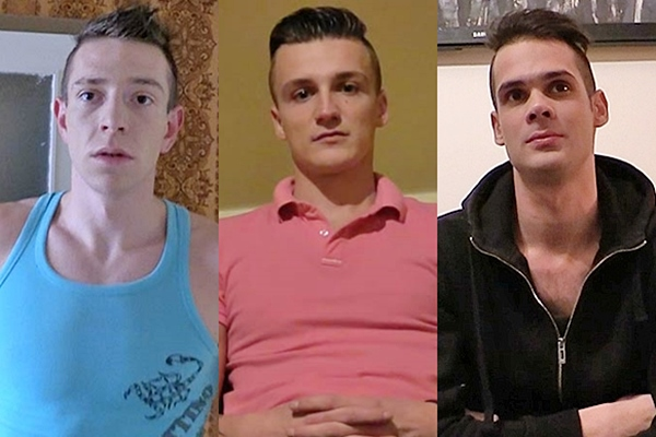 Three hot young men get their tight asses barebacked in Debtdandy 118, 119, 120 at Debtdandy