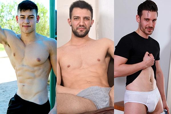 Hot newcomers Eddie Alvarado, Nathan Raider and Parker Marx wank off