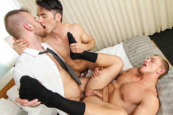 Damien Michaels fucks Landon Mycles and Addison Graham in The Concierge Part 3 at Thegayoffice