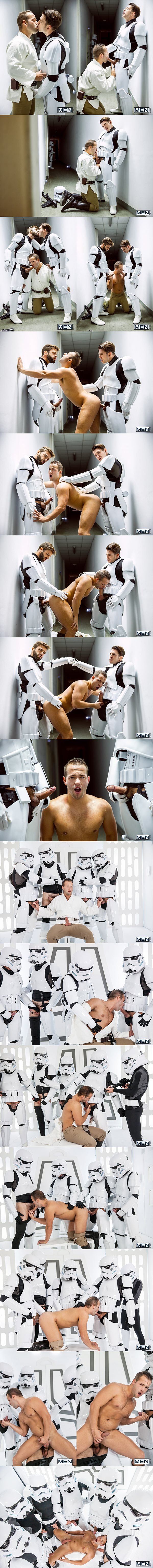 Paddy O'Brian, Hector De Silva and troopers gangbang Luke Adams in Star Wars 4 A Gay XXX Parody at Jizzorgy 02