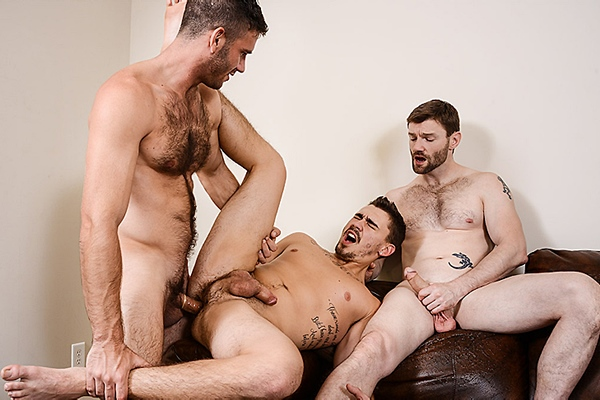 A Sneak Peek of Dennis West & Jimmy Fanz fucking Asher Hawk at Str8togay