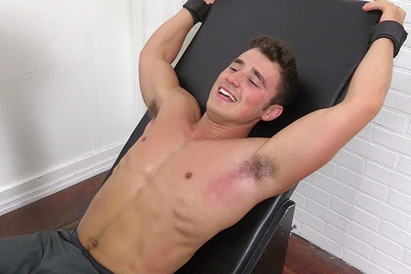 Two foot masters tickle hot college jock Matthew C's ripped body and size 10 feet at Myfriendsfeet