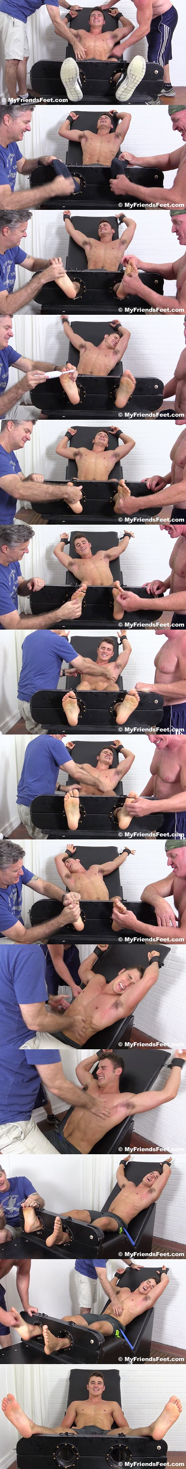 Two foot masters tickle hot college jock Matthew C's ripped body and size 10 feet at Myfriendsfeet 02