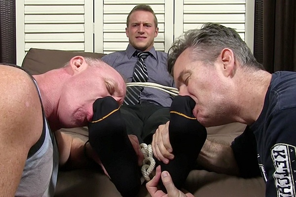 Handsome Kenny (aka Doc Tay Tay) gets tied up, tickled and foot worshiped at Myfriendsfeet