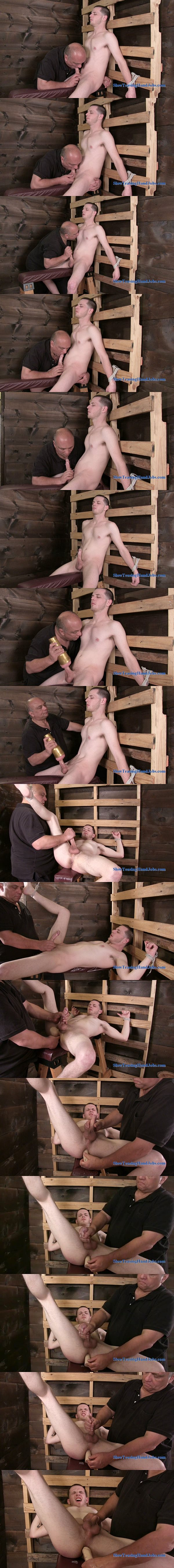 Cute straight lad Michael dildo-fucked and jerked off in What's Wrong With Me at Slowteasinghandjobs 02