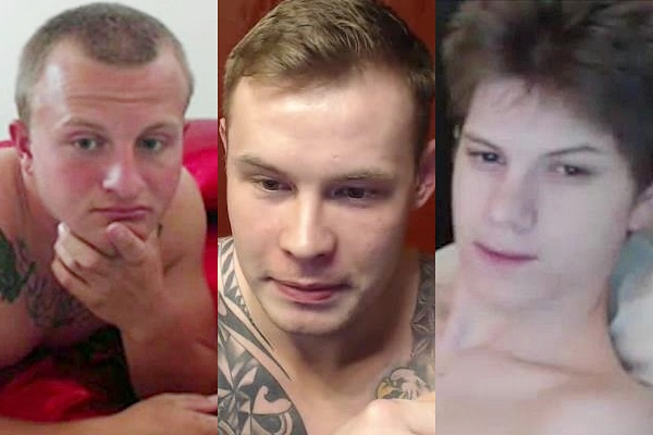 Hot straight guys Michael Ryan, Peter Lawson and Shane Hall jerk off at Voyeurboys
