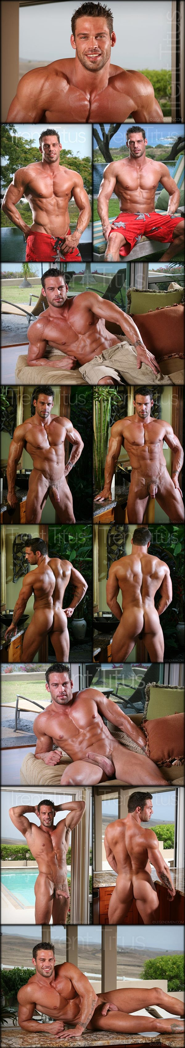 Handsome alpha male Trent Titus shows off his gorgeous naked body at Legendmen