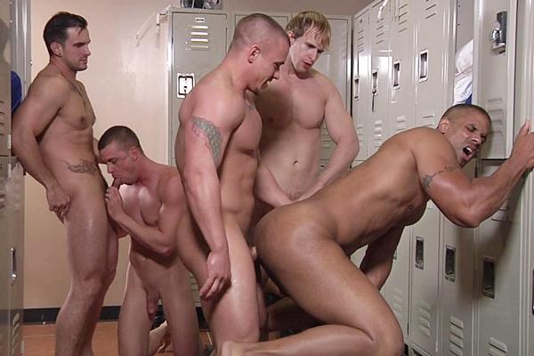 A Sneak Peek of Adam Bryant, Cameron Foster and Darin Silvers fucking Robert Axel and Phenix Saint at Jizzorgy
