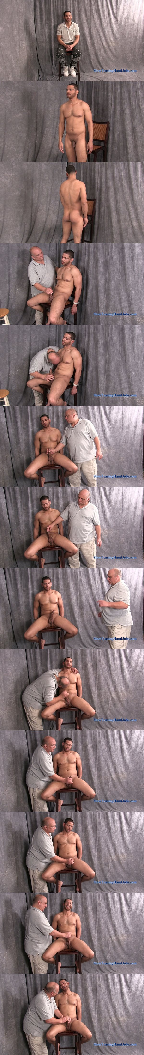 Hot bisexual cook Chris gets slowly edged and jerked at Slowteasinghandjobs 02