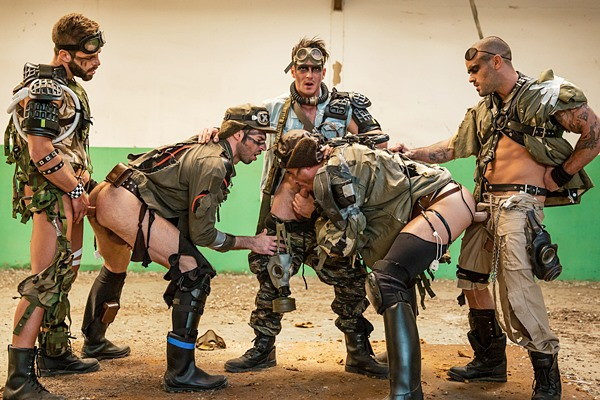 Paddy O'rian and Hector De Silva fuck Dario Beck, Jay Roberts and Damien Crosse in Apocalypse Part 4 at Jizzorgy