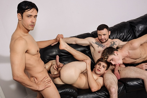 Rafael Alencar and Sergeant Miles fuck Johnny Rapid and Travis Stevens in I'm Leaving You Part 5 at Jizzorgy