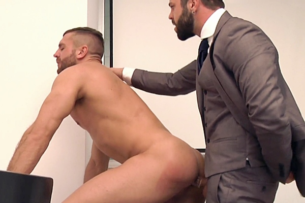 Hector De Silva fucks former Big Brother contestant Emir Boscatto's tight virgin ass in The Book Buff at Menatplay