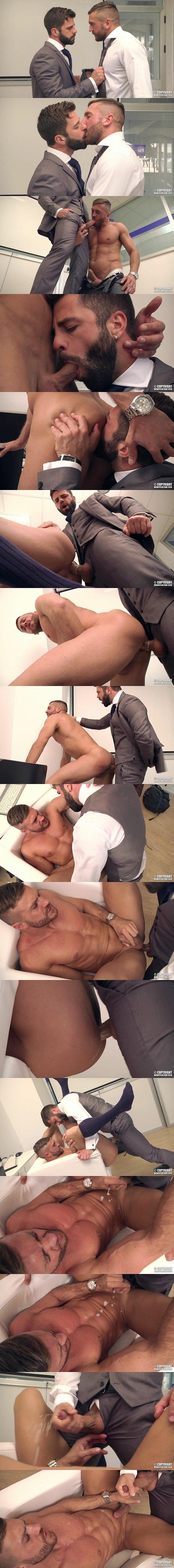 Hector De Silva fucks former Big Brother contestant Emir Boscatto's tight virgin ass in The Book Buff at Menatplay 02