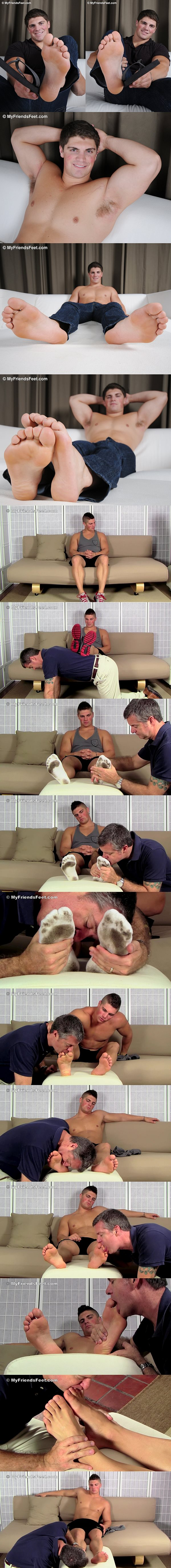 Super handsome muscle jock Dominic (aka Harrison at Seancody) foot worshiped at Myfriendsfeet 02