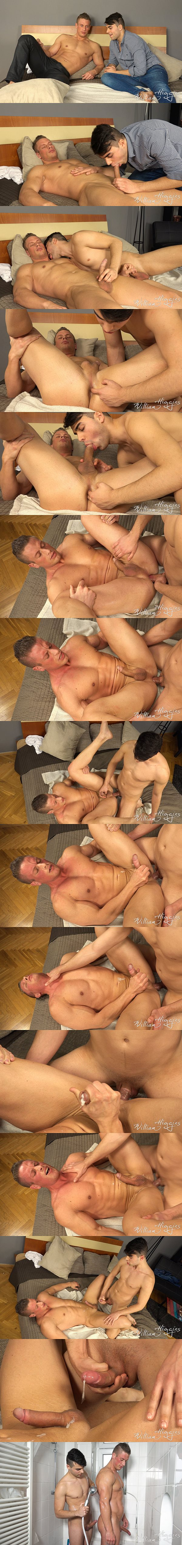 Petr Zuska pounds hot bodybuilder Tomas Decastro's tight virgin ass until he fucks the cum out of Tomas at Williamhiggins 02