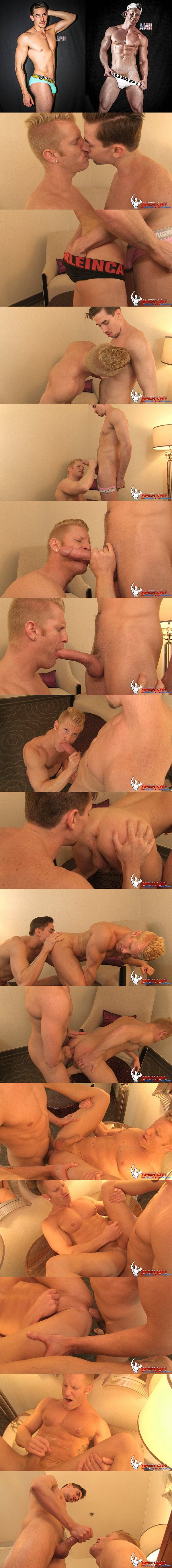 Hot hung Jack Hunter fucks muscle bottom Johnny V at Americanmusclehunks 02