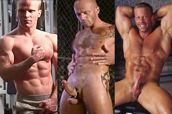 Hot muscle hunks Chad Christoffersen, Vince Susik and Yank Davis jerk off at Legendmen