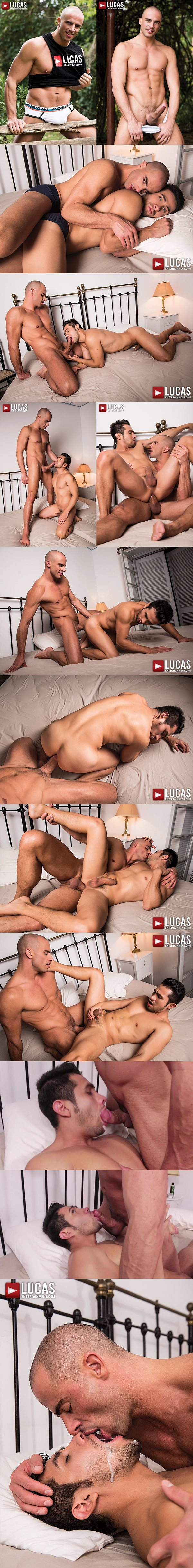 Handsome muscle hunk Diego Summers barebacks Derek Allan at Lucasentertainment 02