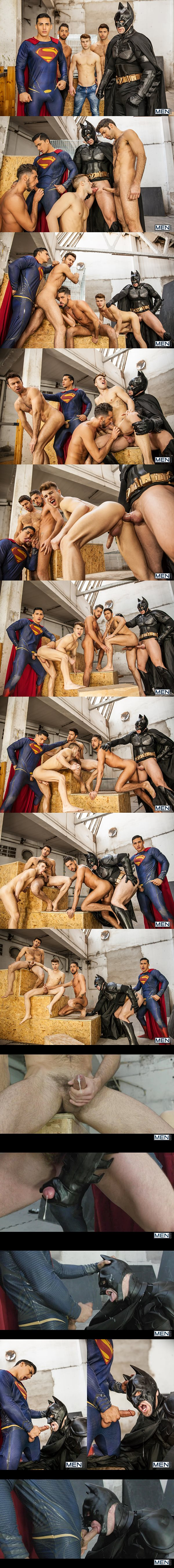 Topher DiMaggio Fucks Allen King, Dario Beck, Massimo Piano and Trenton Ducati in Batman V Superman A Gay XXX Parody Part 3 at Jizzorgy 02
