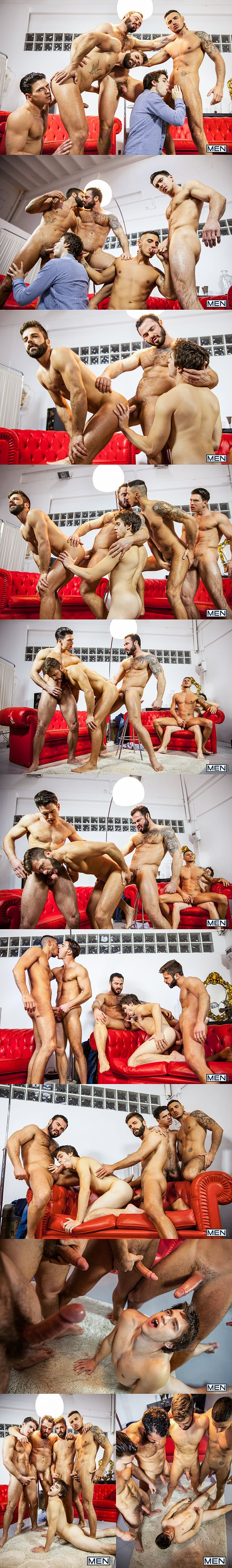 Paddy O'Brian and Jessy Ares fuck Will Braun, Hector De Silva and Klein Kerr in Lost Boys Part 3 at Jizzorgy 02