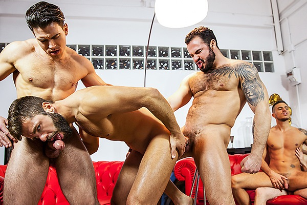 A Sneak Peek of Paddy O'Brian and Jessy Ares fucking Hector De Silva, Klein Kerr and Will Braun at Jizzorgy
