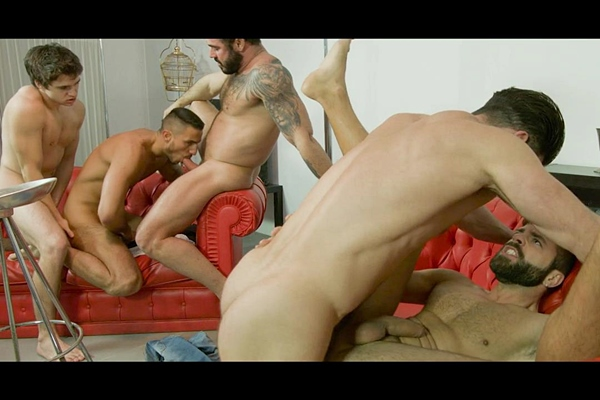 A Sneak Peek of Paddy O'Brian and Jessy Ares fucking Hector De Silva, Klein Kerr and Will Braun at Jizzorgy 01