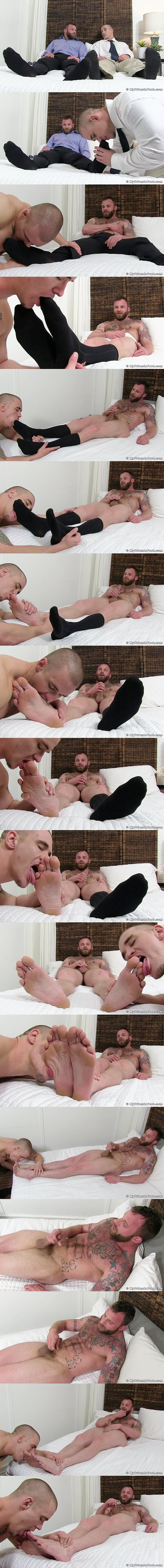 Adam Bryant worships Derek Parker's socks and feet before Derek jerks off at Myfriendsfeet 02