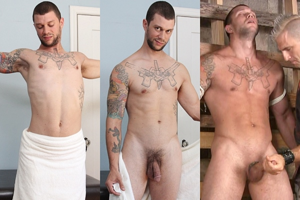 Hot straight muscle hunk Brolly (aka Mike Fox) serviced, massaged and jerked off at Slowteasinghandjobs and Jakecruise
