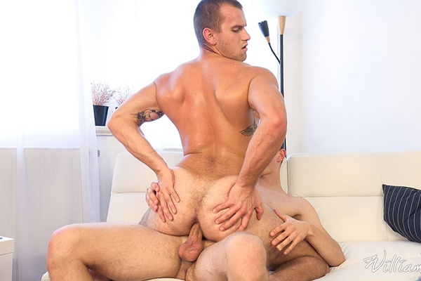 Laco Meido barebacks hot muscle jock Alex Stan in Full Contact at Williamhiggins