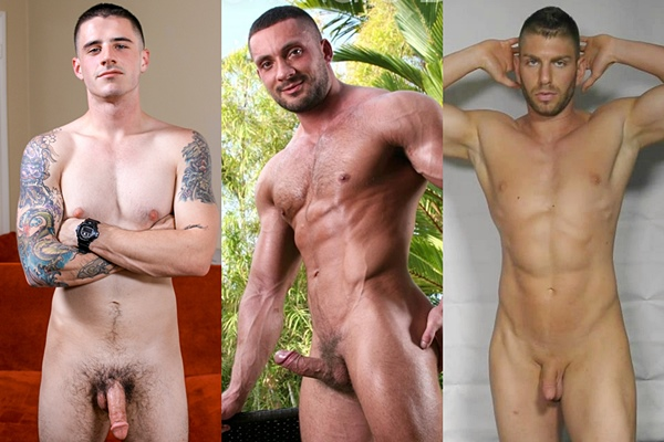 Hot straight guys Arron, Alehandro Diaz and Zach jerk off