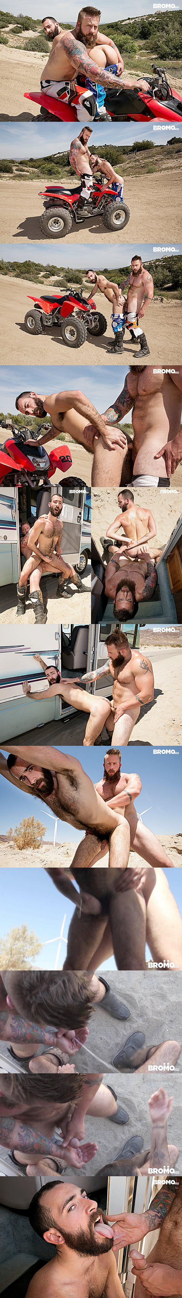 Hot hairy hunk Aaron Bruiser barebacks Stephen Harte in Dirty Rider Part #1 at Bromo 02