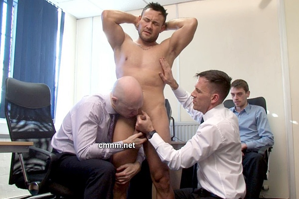 Hot personal trainer Shane gets used, ass fingered and jerked off at Cmnm