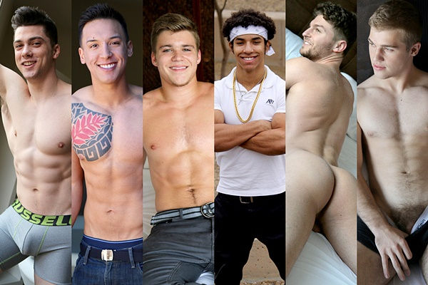 Collin Simpson, Gabriel Jordan, Kyle Dean, Lorenzo Joseph, Rob Burry, Sean Polo - guess who bottoms up at Gayhoopla