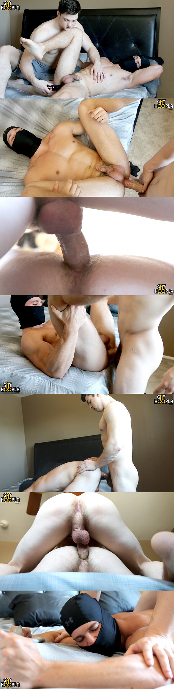 Collin Simpson fucks Kyle Dean's tight virgin ass at Gayhoopla