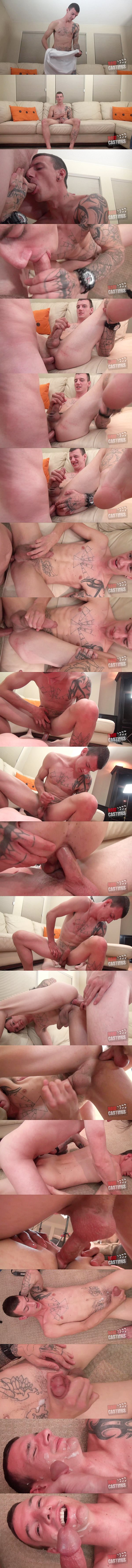 Hot straight dude Brad Davis gets his cherry popped up raw in Casting 619 at Rawcastings 02