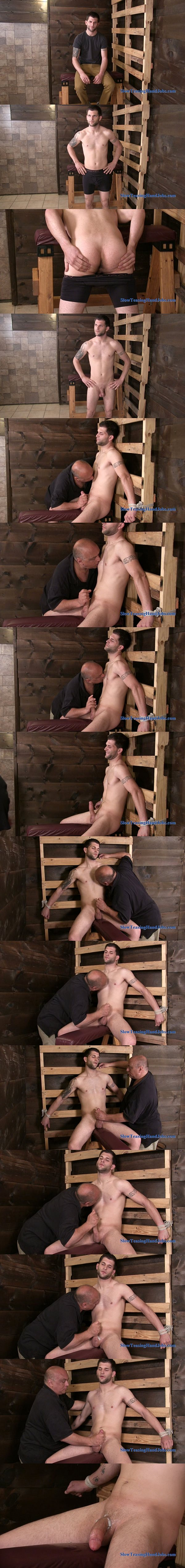 Hot Italian straight guy Mac gets nipples sucked and dick jerked at Slowteasinghandjobs 02