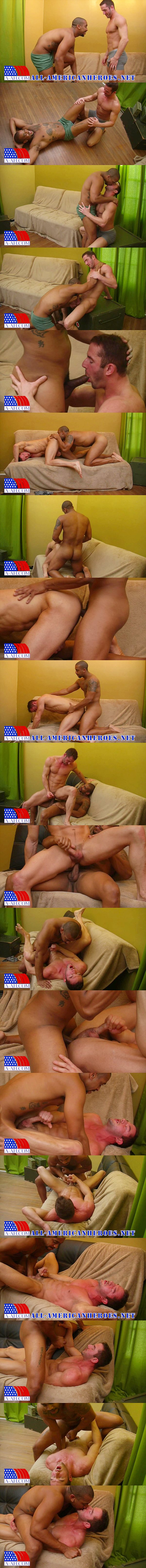 Lieutenant Quinton barebacks Lieutenant Zach at All-americanheroes 02