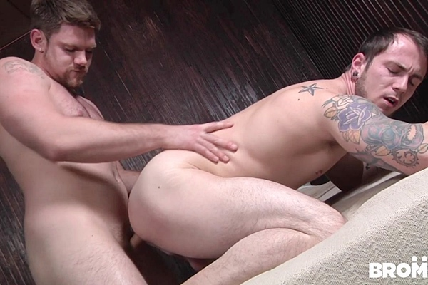 Jeremy Adams barebacks Jared Summers in Bareback Motel Part #2 at Bromo