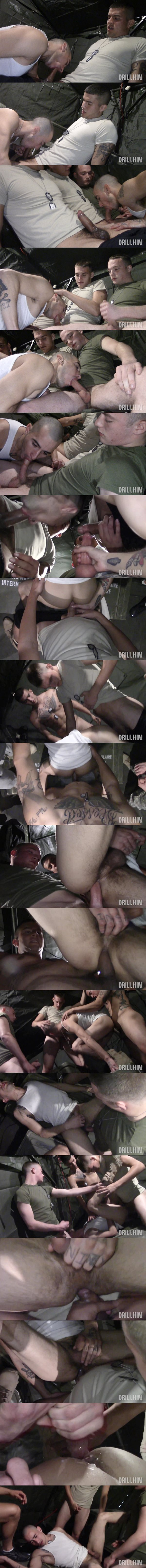 Joey Rico, TJ Weidman and Broc gangbang James Dickson in Dumpster On Base at Drillhim 02